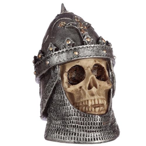 Gothic Skull in Saladin Helmet Ornament