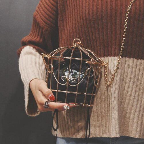 Women,s Birdcage Evening Bag