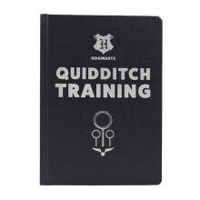 Harry Potter Notebook Quidditch Training Journal new Official Black A5