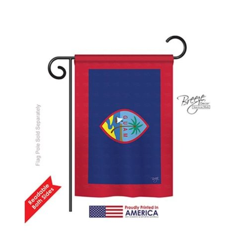 Breeze Decor 58353 Guam 2-Sided Impression Garden Flag - 13 x 18.5 in.