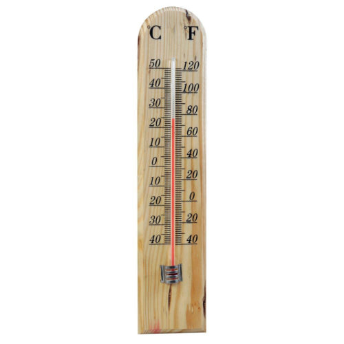Shedmates Outdoor Wooden Thermometer - Celsius And Fahrenheit