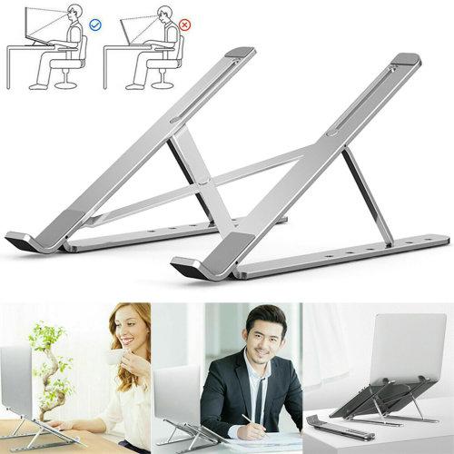 Adjustable Aluminium Laptop Stand Riser for Macbook Air Cooling Ventilated Pad