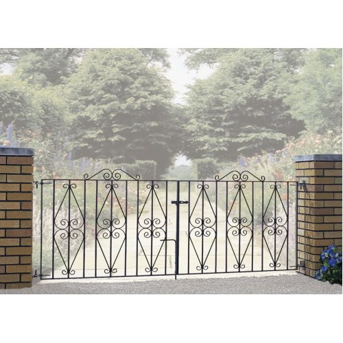 Stirling Scroll Driveway Gates galvanised metal