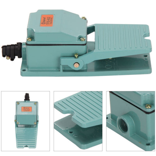 Antislip Industrial Foot Operated Pedal Switch Footswitch AC 250V 10A