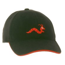 Woodworm Cricket/Golf Leisure Cap, One Size, Black/Red