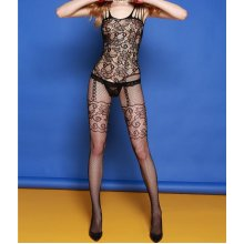 Women\'s Lace Slips Sexy Bodystocking Bodysuits Lady\'s Hollow Perspective intimates Fishnet Stocking black full slips