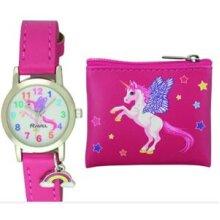 Ravel Little Gems Watch Coin Purse Set Unicorn R2255  Christmas Gift Set, Birthday Gift Set