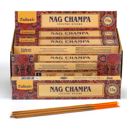 Nag Champa Tulasi Incense Sticks - Set of 12