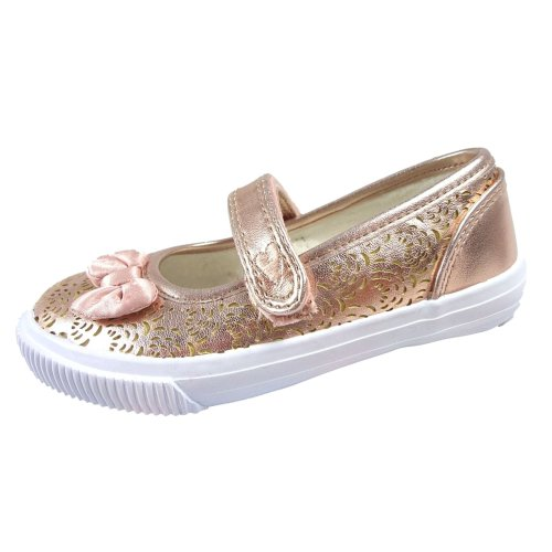 Buckle My Shoe Girls Shoes in Gold with Touch Fastening