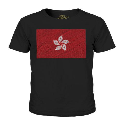 Candymix - Honk Kong Scribble Flag - Unisex Kid's T-Shirt