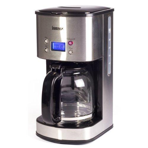 Igenix IG8250 10-Cup Stainless Steel Digital Coffee Maker