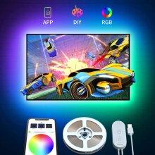 LED TV Backlight APP Control RGB LED Strip Lights TV Bias Lighting Kit 2M
