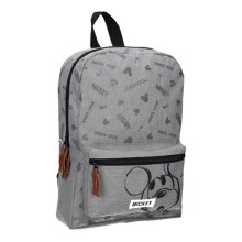 Mickey Mouse Repeat After Me Grey Backpack