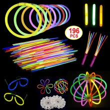 Glow Sticks Party Pack 196pcs Birthday Party Loot Bag Favours