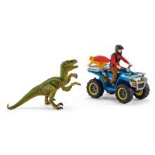 Schleich Quad escape from Velociraptor dinosaurs play set