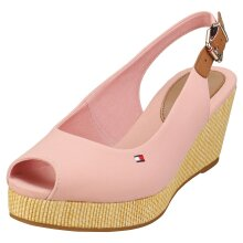 Tommy Hilfiger Iconic Elba Sling Back Womens Wedge Sandals in Soothing Pink