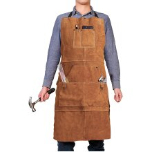 Leather Woodwork Apron Qeelink Leather Apron 6 Tool Pockets New