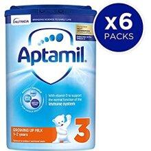 Aptamil Growing Up Milk Stage 3 1-2 Years 800 g Pack of 6