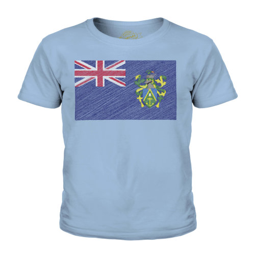 Candymix - Pitcairn Islands Scribble Flag - Unisex Kid's T-Shirt