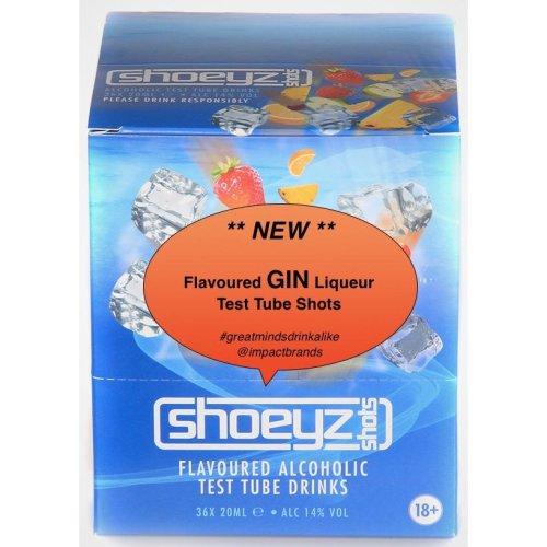 Shoeyz | flavoured GIN Liqueur Test Tube Shots | 14% abv