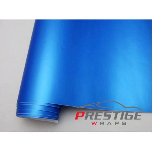 Matte Pearl Blue Car Vinyl Wrap Air/Bubble Free 1.52m x 1m