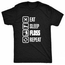 8TN Eat Sleep Floss Repeat - Dance Moves Hip Hop Mens T Shirt