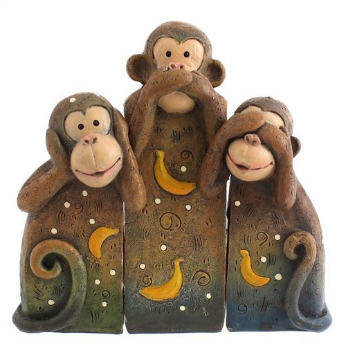 Something Different See Speak Hear No Evil Monkeys Resin Ornament