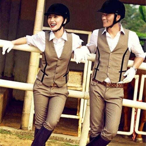 Horse Riding Clothes Women Men Vest Shirt Pants
