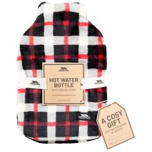 TRESPASS: HUGME - HOT WATER BOTTLE WITH COVER - RED CHECK - EACH