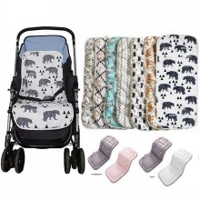 Cotton Comfortable Soft Child Cart Mat, Infant Cushion Buggy Pad For Baby Stroller