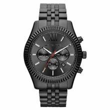 Michael Kors Lexington All Black Large Men's Bracelet Watch¦Chronograph¦MK8320