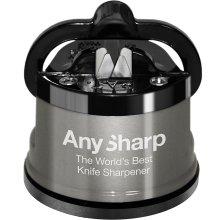 AnySharp Pro Knife Sharpener Silver