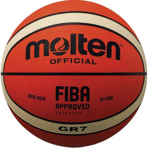 Molten BGR-OI Rubber Series Fiba Approved Training/Drill 12 Panel Basketball New