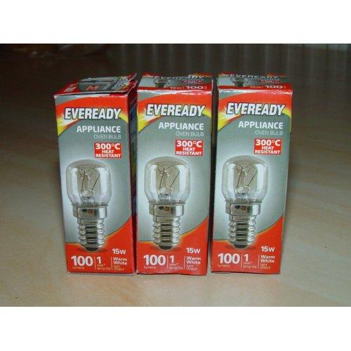 3 x 15W Bulb Pygmy EVEREADY  E14 Domestic Appliance SES Screw Cap