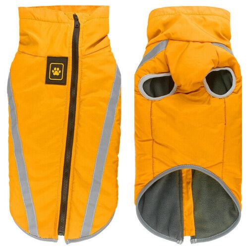 (Yellow, XL) Pet Dog Waterproof Padded Jacket Vest Coat Reflective Waistcoat Raincoat