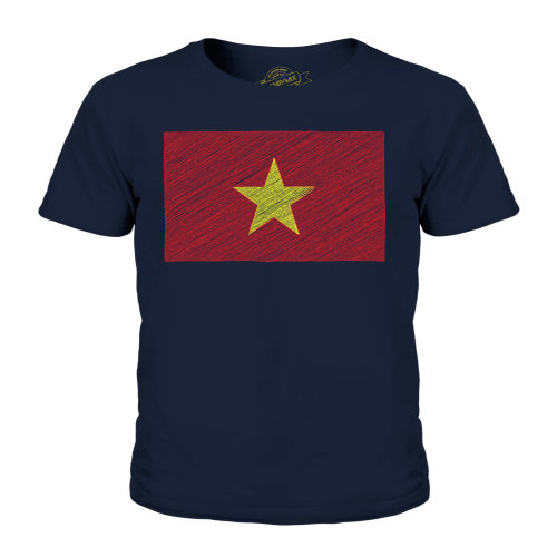 Candymix - Vietnam Scribble Flag - Unisex Kid's T-Shirt