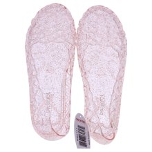 DelSol Heart Sole Girl Jellies Shoes - 3 Pink - 1 Pair Shoes