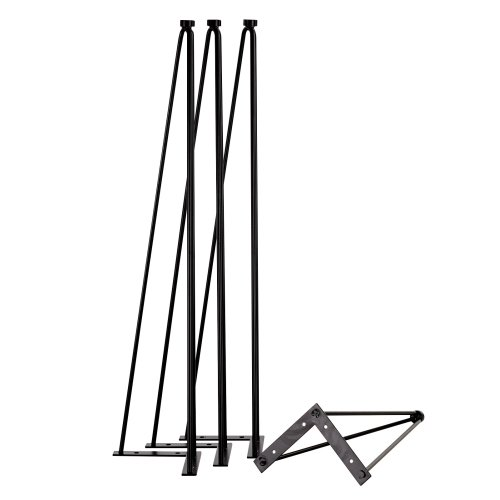 Black Hairpin leg - Pack of 4 - Dining height 730mm