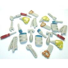 24 Edible Mini Work Tools Birthday Cake Topper Decorations