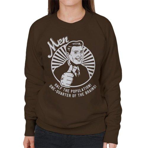 Anti Men Joke Retro Women's Sweatshirt
