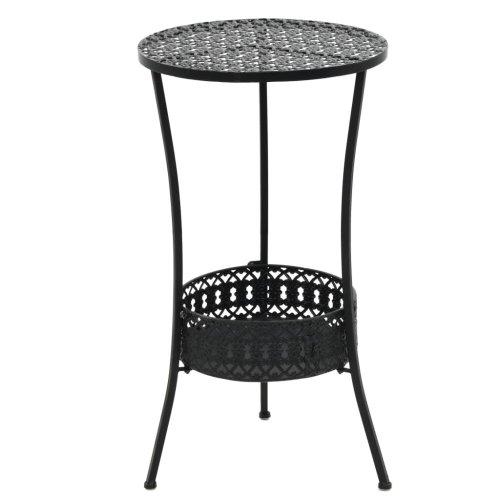 vidaXL Bistro Table Vintage Style Round Metal 40x70 cm Black