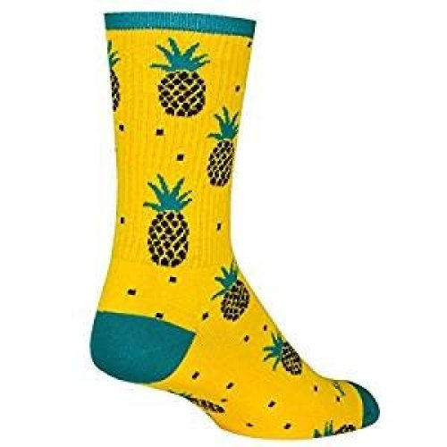 Socks - Sockguy - Crew - Pineapple L/XL Cycling/Running