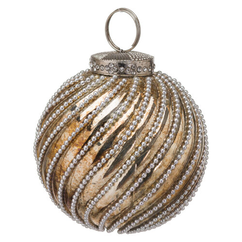 The Noel Collection Burnished Jewel Swirl Large Bauble