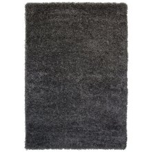The Rug House Soft Non Shed Thick Plain Easy Clean Shaggy Rugs Ontario - 16 Colours and 8 (Grey 160x220cm)