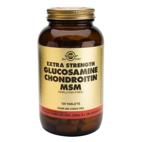 Solgar Extra Strength Glucosamine Chondroitin MSM Tablets, 120