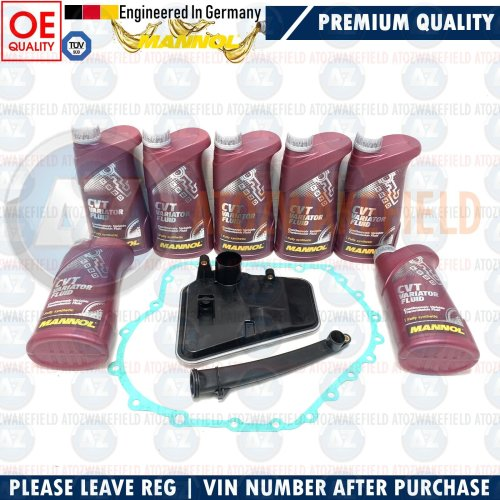 FOR AUDI A6 S6 CVT AUTOMATIC TRANSMISSION GEARBOX PAN FILTER & GASKET 7L OIL KIT