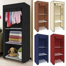 Single Canvas Clothe Storage Wardrobe Cupboard