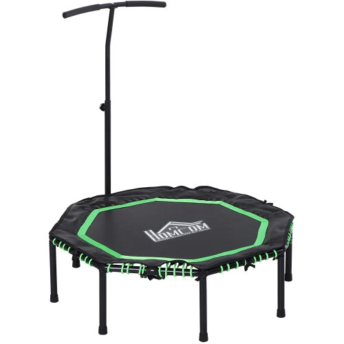 HOMCOM Trampoline Outdoor Bouncer Jumper Adjust Handle Adult Kid - Green