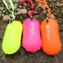 1X PVC Swimming Buoy Safety Air Dry Tow Bag Float Inflatable Signal Drift Bag