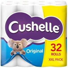 32 CUSHELLE ORIGINAL TOILET ROLLS